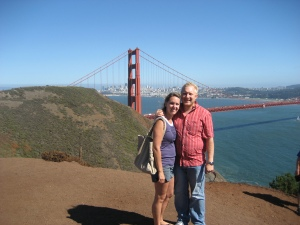 Alana and I at The Golden Gate Bridge